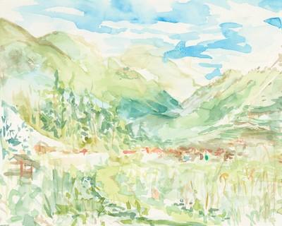 """""""Campo de Pisac"""", Aquarell auf Papier, 24 x 30 cm, 2019"""
