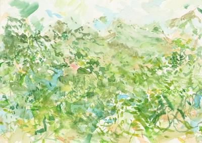 """""""Floresta de Chazuta"""", Aquarell auf Papier, 21 x 29,5 cm, 2019"""