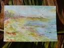 """""""Lima Coast"""", Aquarell auf Papier, 10,5 x 14,8 cm, 2019"""