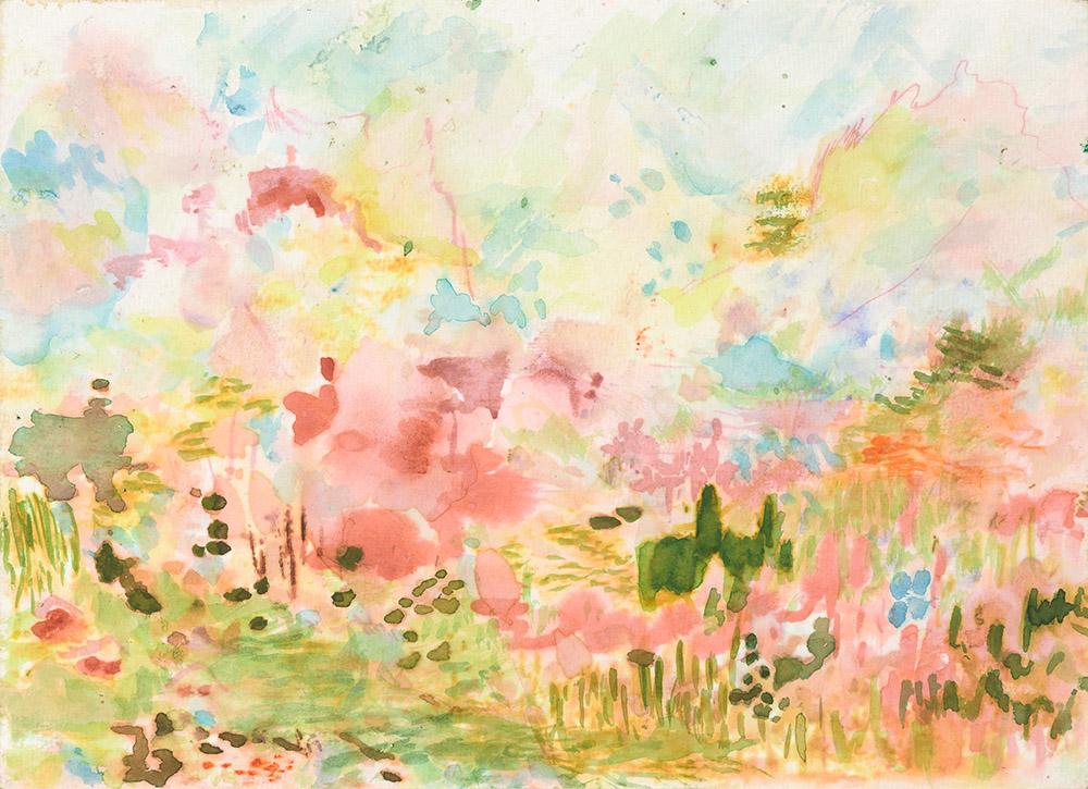 """""""Valle Sagrado 1"""", Aquarell auf Papier, 18 x 25 cm, 2019"""