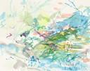 """""""Valle Sagrado 4"""", Aquarell auf Papier, 24 x 30 cm, 2019"""