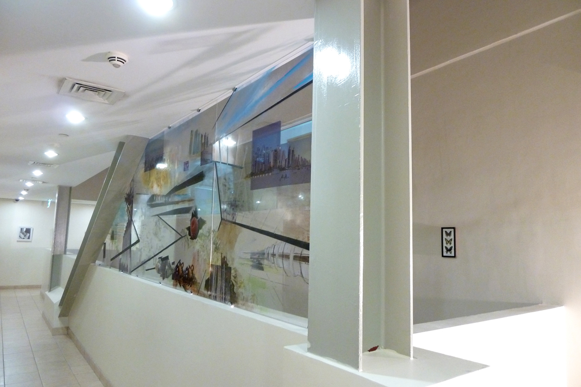 """co.mmission"", permanent installation at DUCTAC, Mall of the Emirates, Dubai"