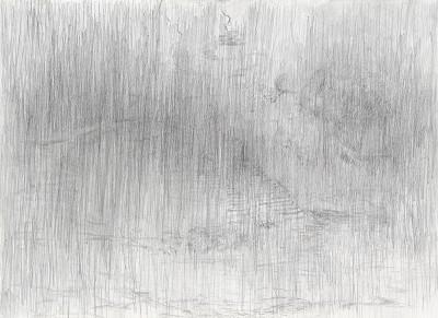 """""""Donaureise"""", Blatt 1, Bleistift auf Papier, 14,5 x 21 cm, 2017"""