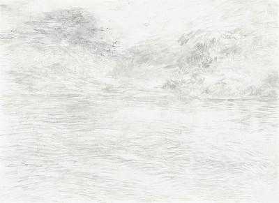 """""""Donaureise"""", Blatt 8, Bleistift auf Papier, 14,5 x 21 cm, 2017"""