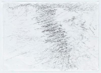 """""""Gewässer.WienerDonau1"""", Bleistift auf Wenzhou Papier, 29,7 x 42 cm, 2016"""