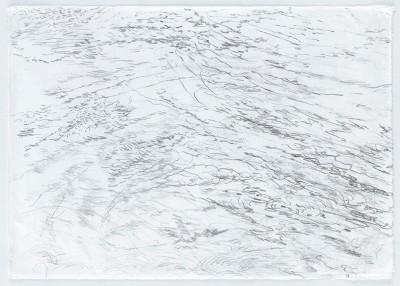 """""""Gewässer.WienerDonau2"""", Bleistift auf Wenzhou Papier, 29,7 x 42 cm, 2016"""