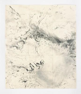 """""""Interferenz 2"""", Bleistift auf Papier, 210 x 178 cm, 2016"""