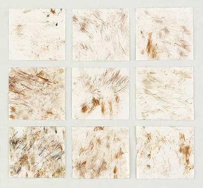 """""""Regenwald"""", Waldstrukturen auf Papier, 60 x 60 cm, 2017"""